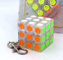 جاکلیدی روبیک 3×3 جیهویی طرح شکلک JIEHUI Smiley keyholder