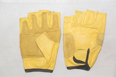 دستکش چرم زرد