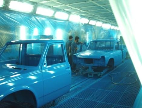 پروژه ارزيابي چرخه بهره وری در اتاق رنگ شركت خودروسازی زامياد