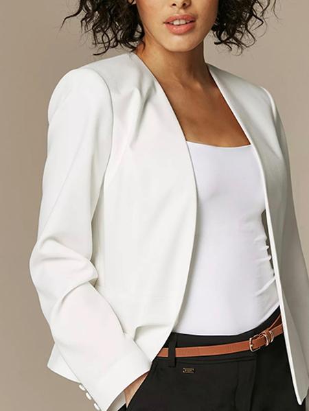 کت تک رسمی سفید برش دار کد :166-18