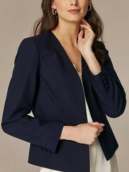 کت تک رسمی سورمه ای برش دار کد : ۱۷۴-۱۸
