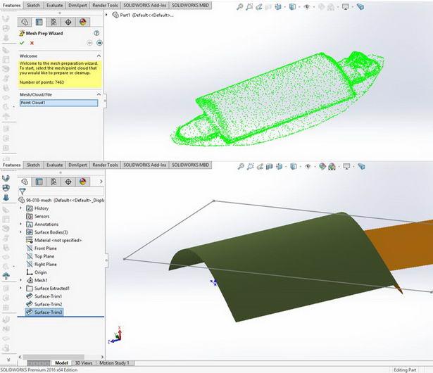 تبدیل ابر نقاط به مدل سه بعدی