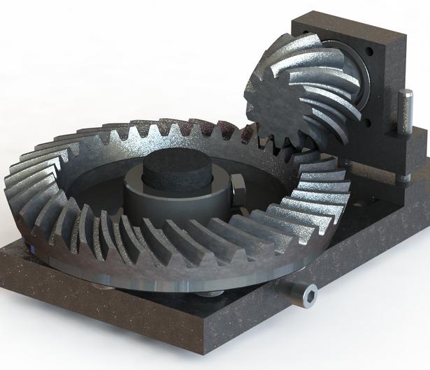 طراحی فیکسچر چرخ دنده های مخروطی