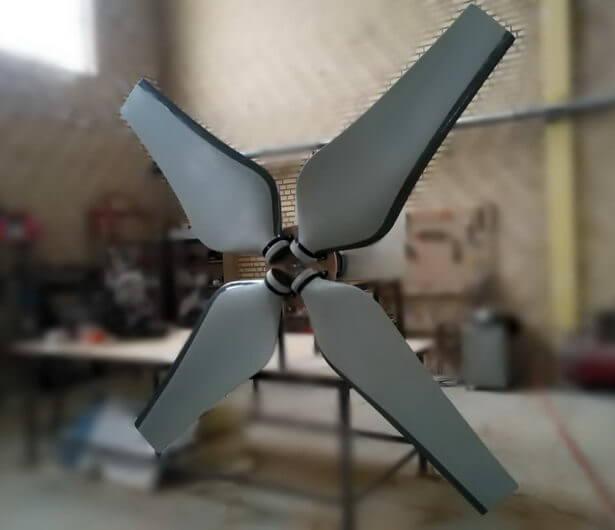 قالب سازی و ساخت نمونه فن فایبرگلاس