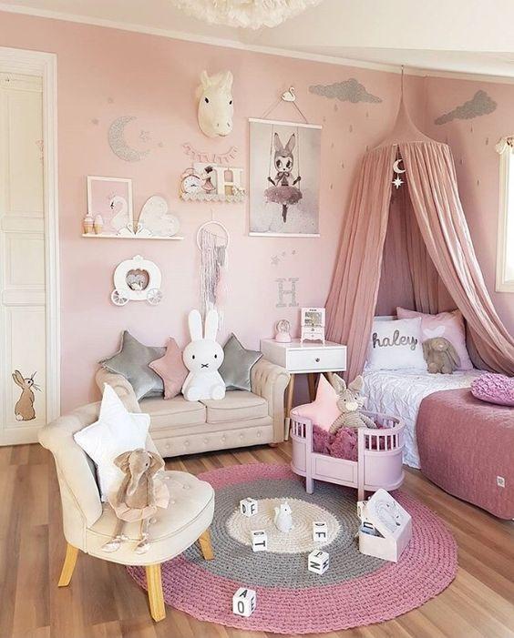 طراحی اتاق خواب دخترونه