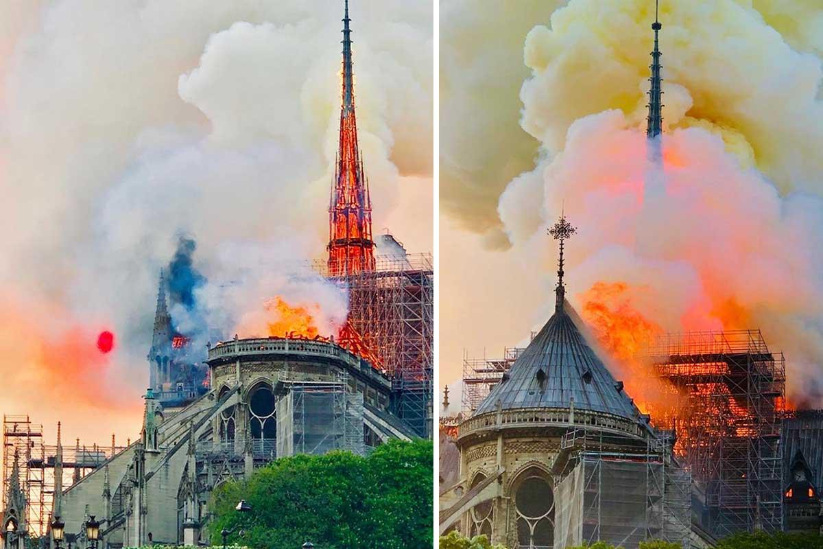 آتش سوزی سمبل معماری گوتیک در پاریس