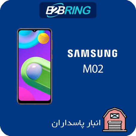 گوشي سامسونگ مدل M02 ظرفیت 32 رم 2 گیگابایت حداقل خرید2 عدد(یک مشکی یک رنگی)
