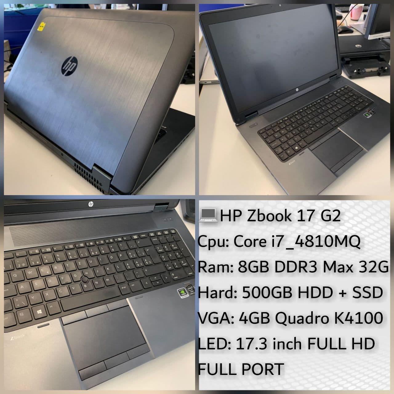 لپ تاپ استوک HP Zbook 17