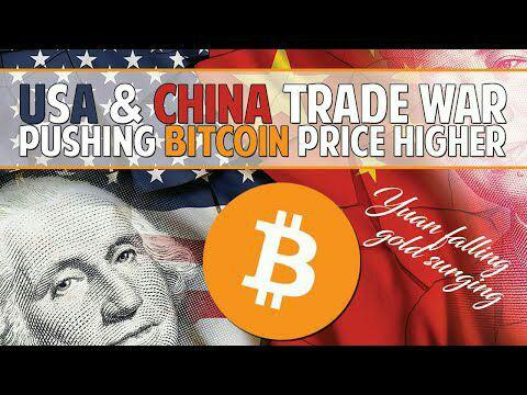 American-Chinese trade war: bitcoin death and life game