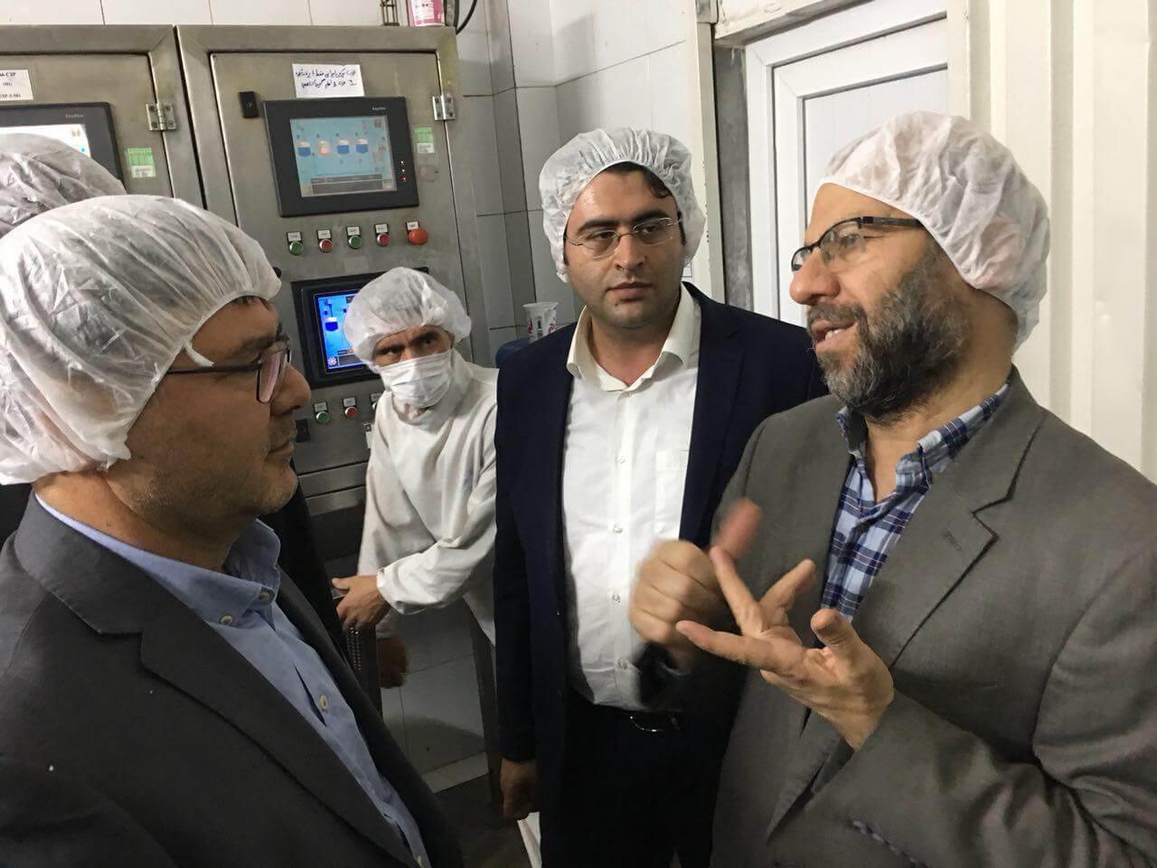 بازدید بهروز نعمتی از کارخانه صنایع لبنی دامداران