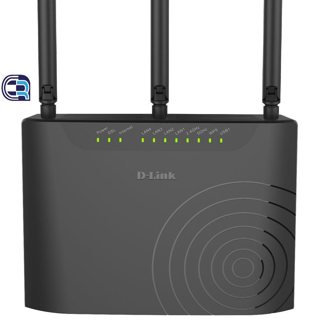 مودم روتر بیسیم +ADSL2 و +VDSL2 دی-لینک مدل DSL-2877AL