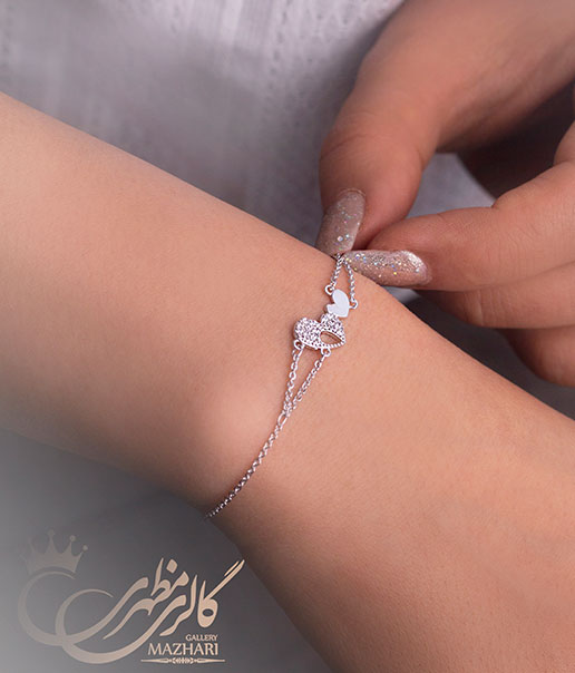 دستبند دو قلب