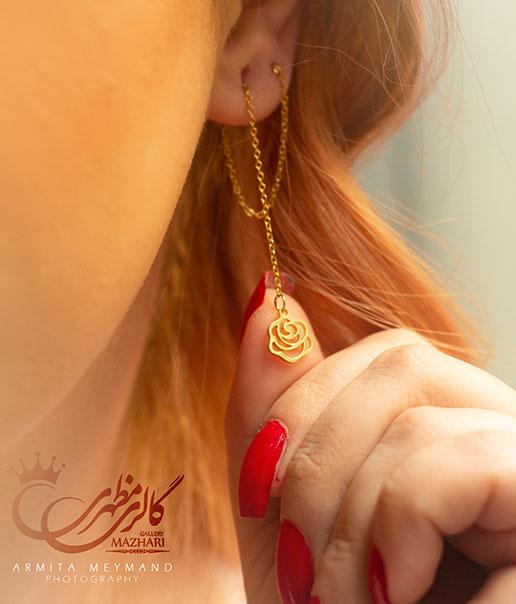گوشواره بخیه ای گلسا