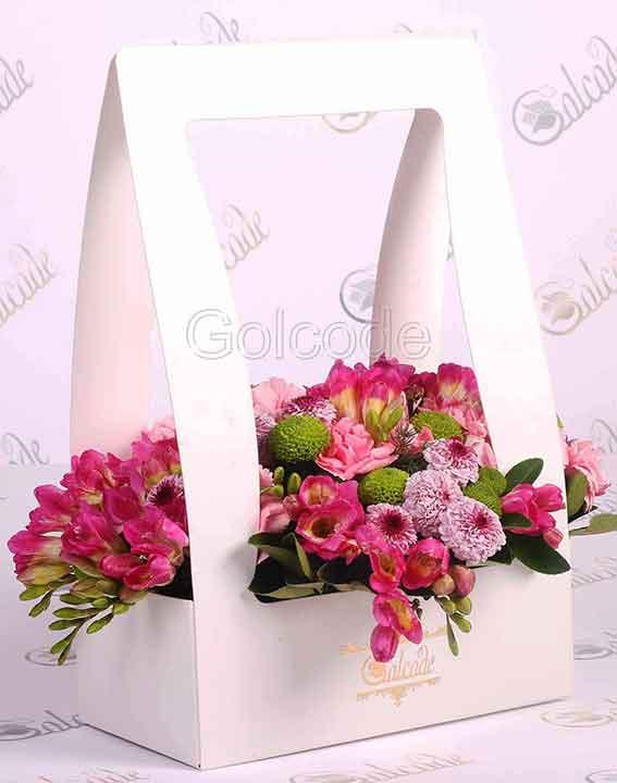 باکس گل ویژه سفید CGC-110