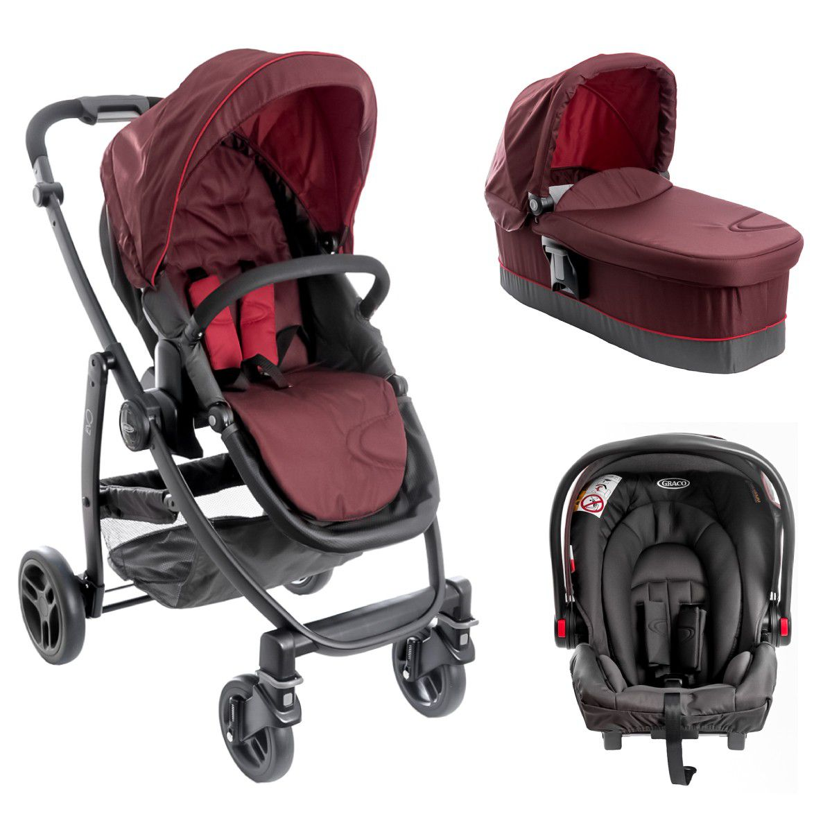 کالسکه کریر Graco Evo Fiery Red