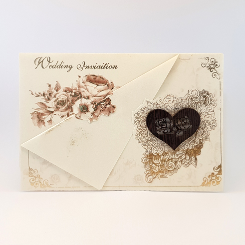 کارت عروسی کد 746 سه لایی
