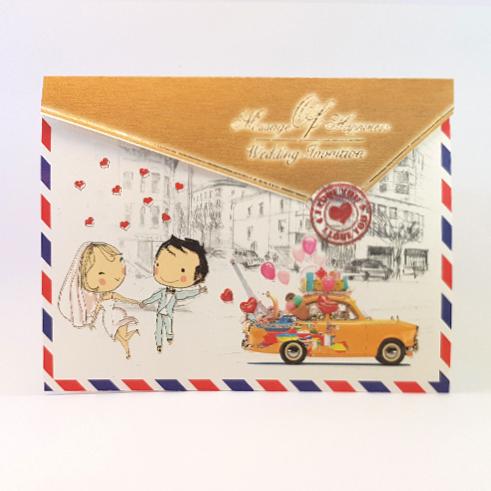 کارت عروسی کد 825 عروسکی سه لایی