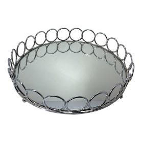 سینی آینه ای گرد طرح حلقه ای
