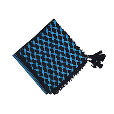 چفیه طرح عربی آبی مشکی