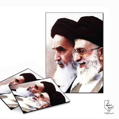 تخته شاسی عکس ـ طرح امام خمینی و امام خامنهای ۲۶ * ۱۳