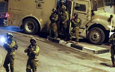 یورش نظامیان صهیونیست به کرانه باختری و بازداشت چند فلسطینی