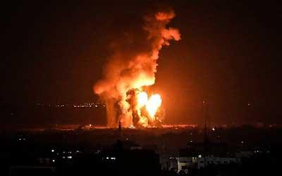 حمله پهپادی رژیم صهیونیستی به نوار غزه