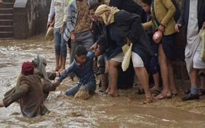 سیل مرگبار در یمن تحت محاصره؛ حداقل ۱۳ نفر شامل دو کودک جان باختند