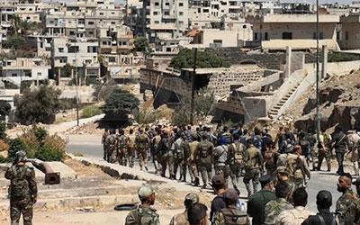 ارتش سوریه وارد شهرک «تل شهاب» و «وزیزون» در استان درعا شد