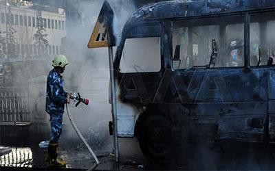 ۱۳ کشته در انفجار در مسیر یک اتوبوس در دمشق