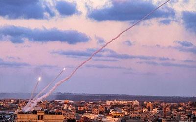 آزمایش موشکی مقاومت فلسطین در غزه برای سومین روز متوالی