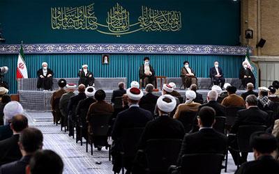 بیانات امام خامنهای در دیدار میهمانان کنفرانس وحدت اسلامى و جمعی از مسئولان نظام