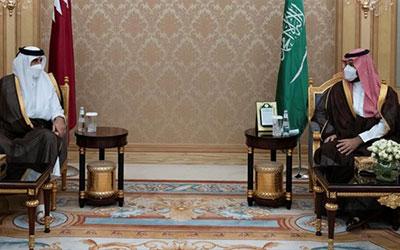 دیدار امیر قطر و بنسلمان درباره تحولات منطقه