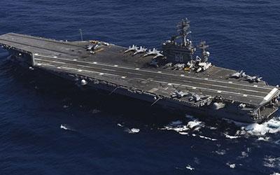 ناو هواپیمابر «یواساس نیمیتز» وارد خلیج فارس شد