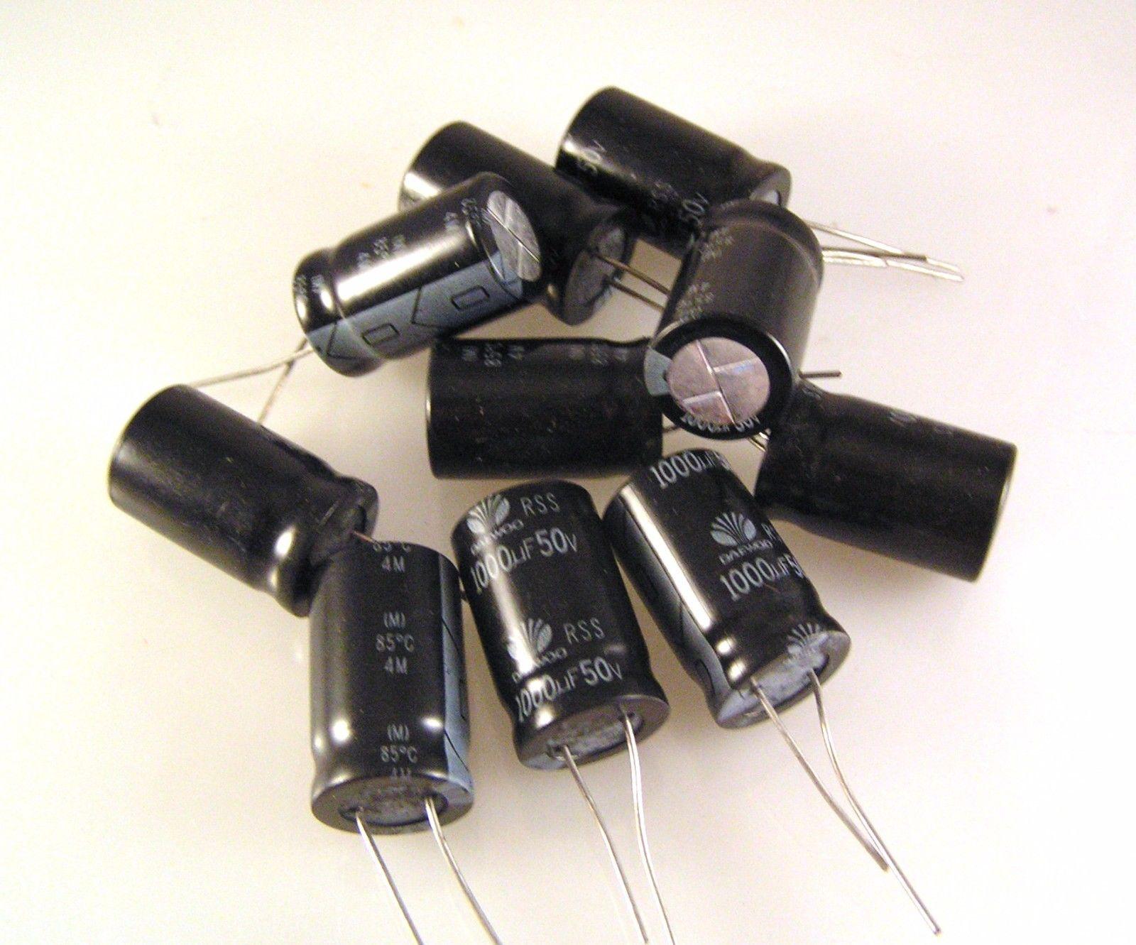 خازن الکترولیتی 1000 میکرو فاراد v50