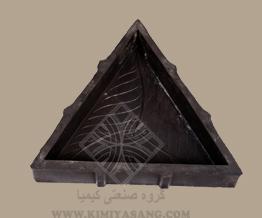 قالب لاستیکی کف پوش مثلث گلدار