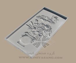 قالب سنگ مصنوعی تابلو گل