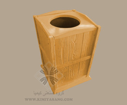 قالب سنگ مصنوعی سطل زباله