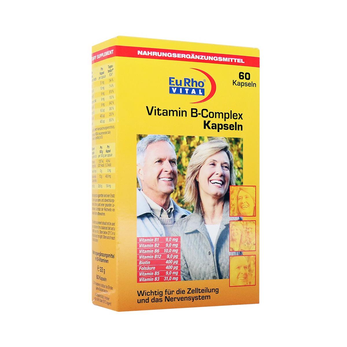 کپسول ویتامین ب کمپلکس یورو ویتال