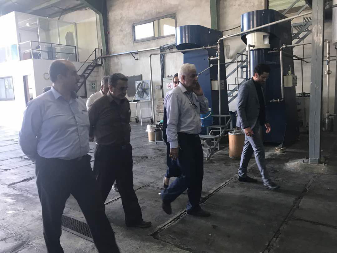 بازدید رئیس سازمان حفظ نباتات و معاونین ایشان از کارخانه ماهر شیمی