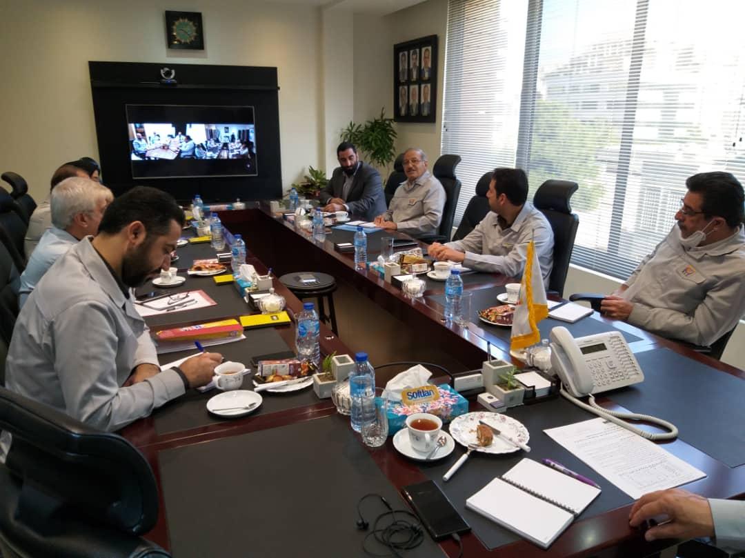 برگزاری جلسات مدیران، مسئولین و همکاران فولاد لجستیک با استفاده از ویدئو کنفرانس