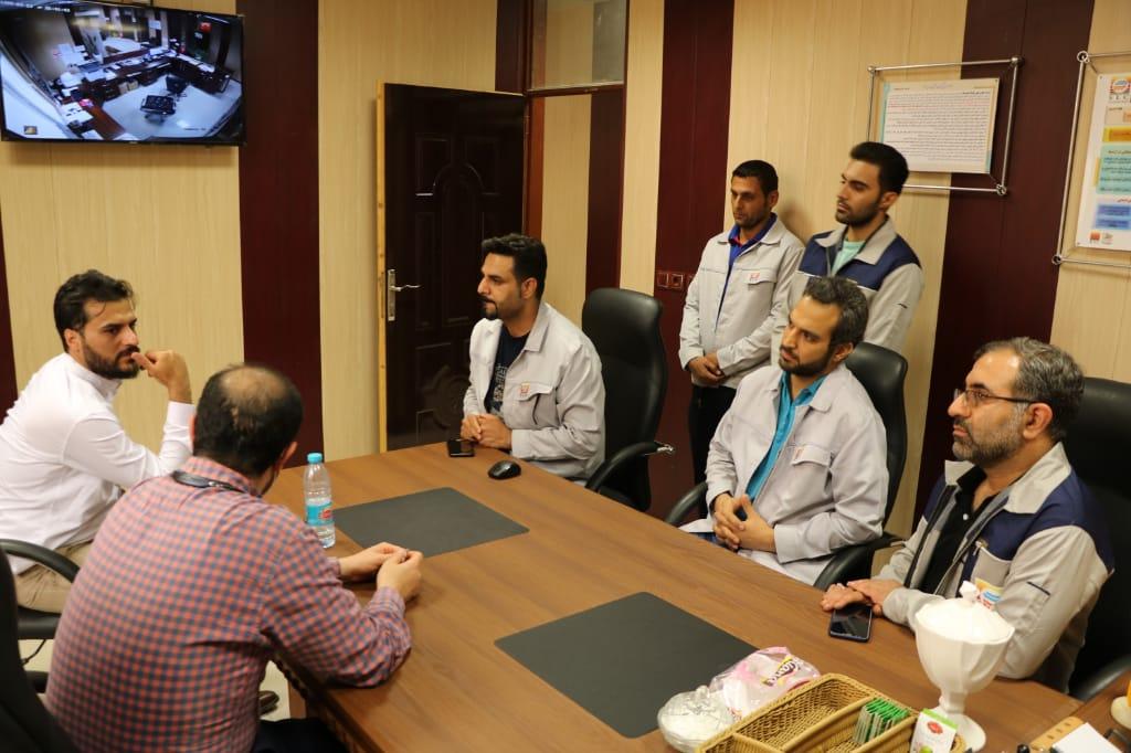 بازدید مهندس پیمان رضائیان مشاور عالی مدیر عامل شرکت فولاد خوزستان از شرکت چند وجهی فولادلجستیک