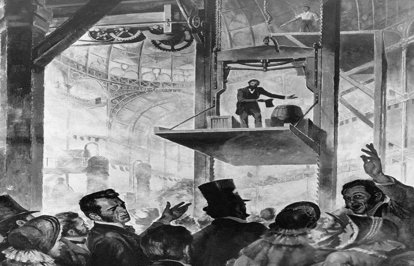 اولین آسانسور در جهان
