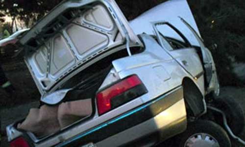 واژگونی خودروی سواری در جاده قدیم ساوه