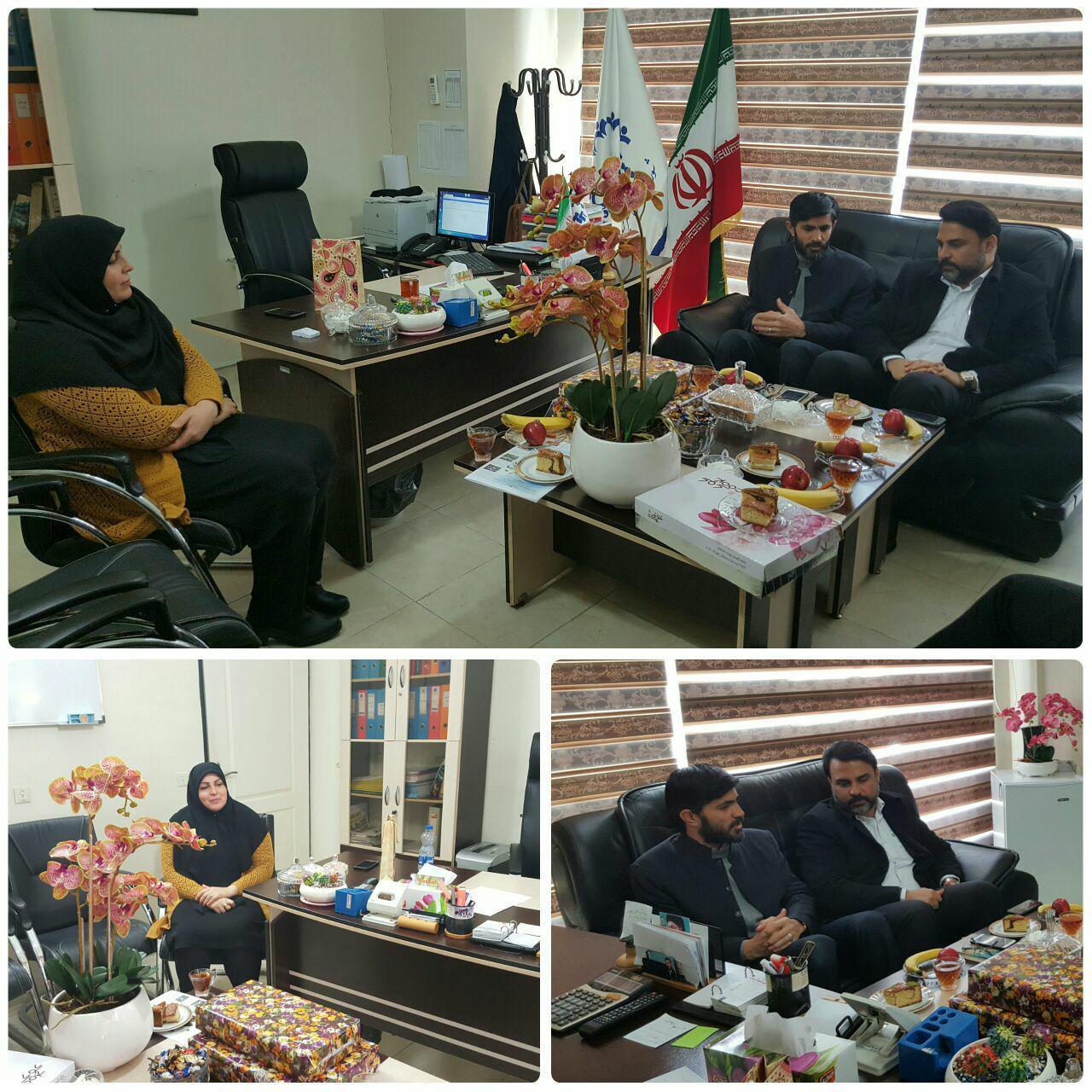 تبریک شهردار و فرمانده مرکز مقاومت بسیج پرند به رئیس شورای اسلامی شهر به مناسبت گرامیداشت روز زن