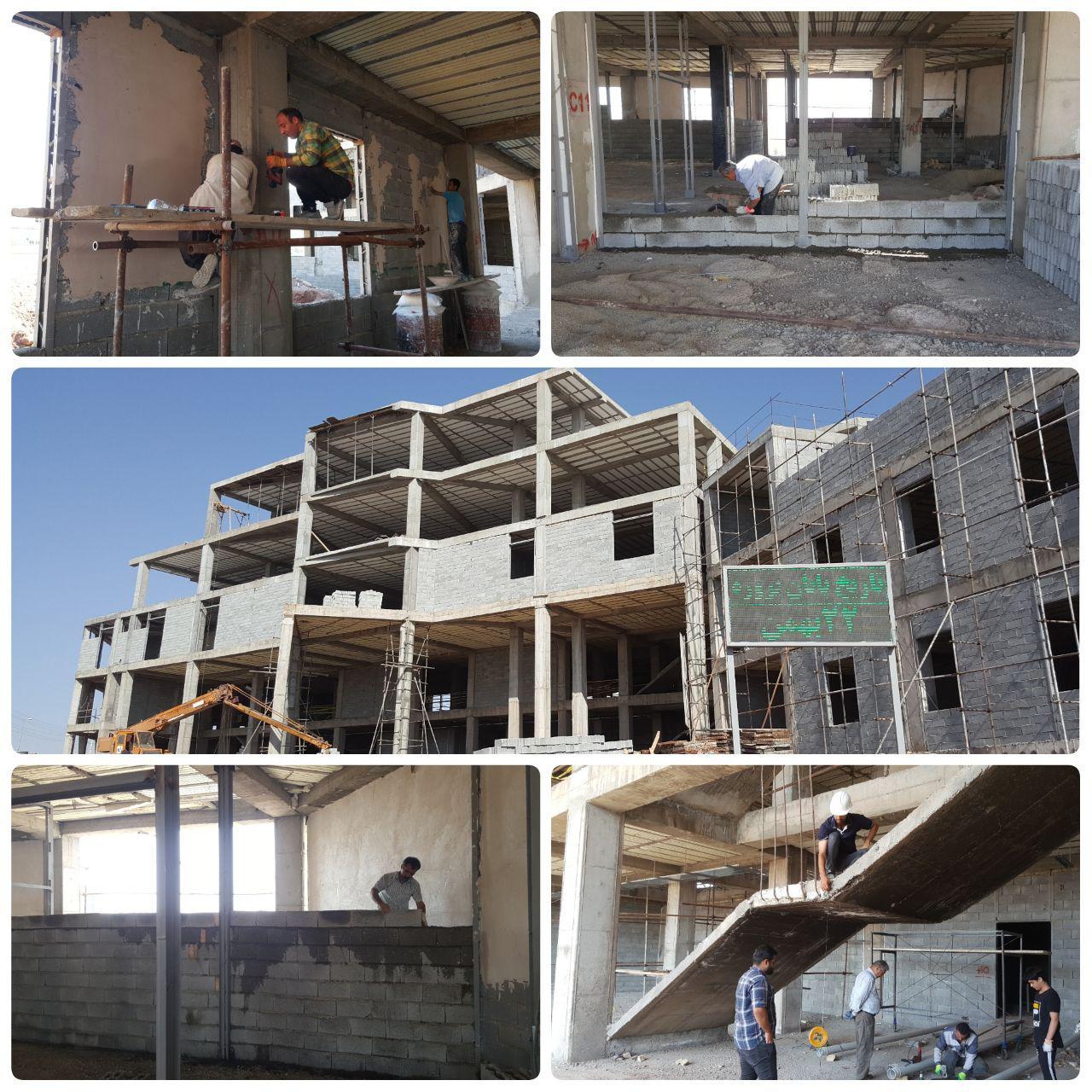 تداوم عملیات احداث ساختمان مرکزی شهرداری پرند