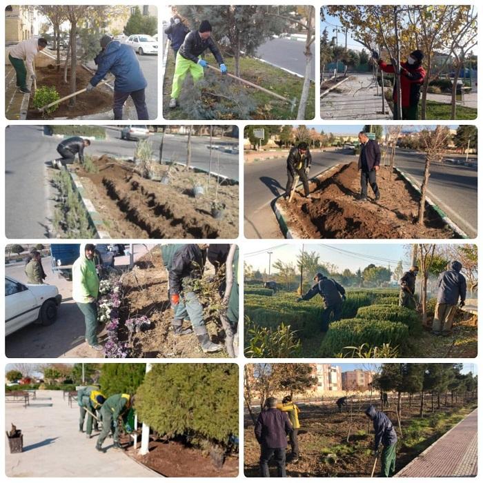 تداوم اقدامات گسترده مدیریت شهری پرند در حوزه فضای سبز