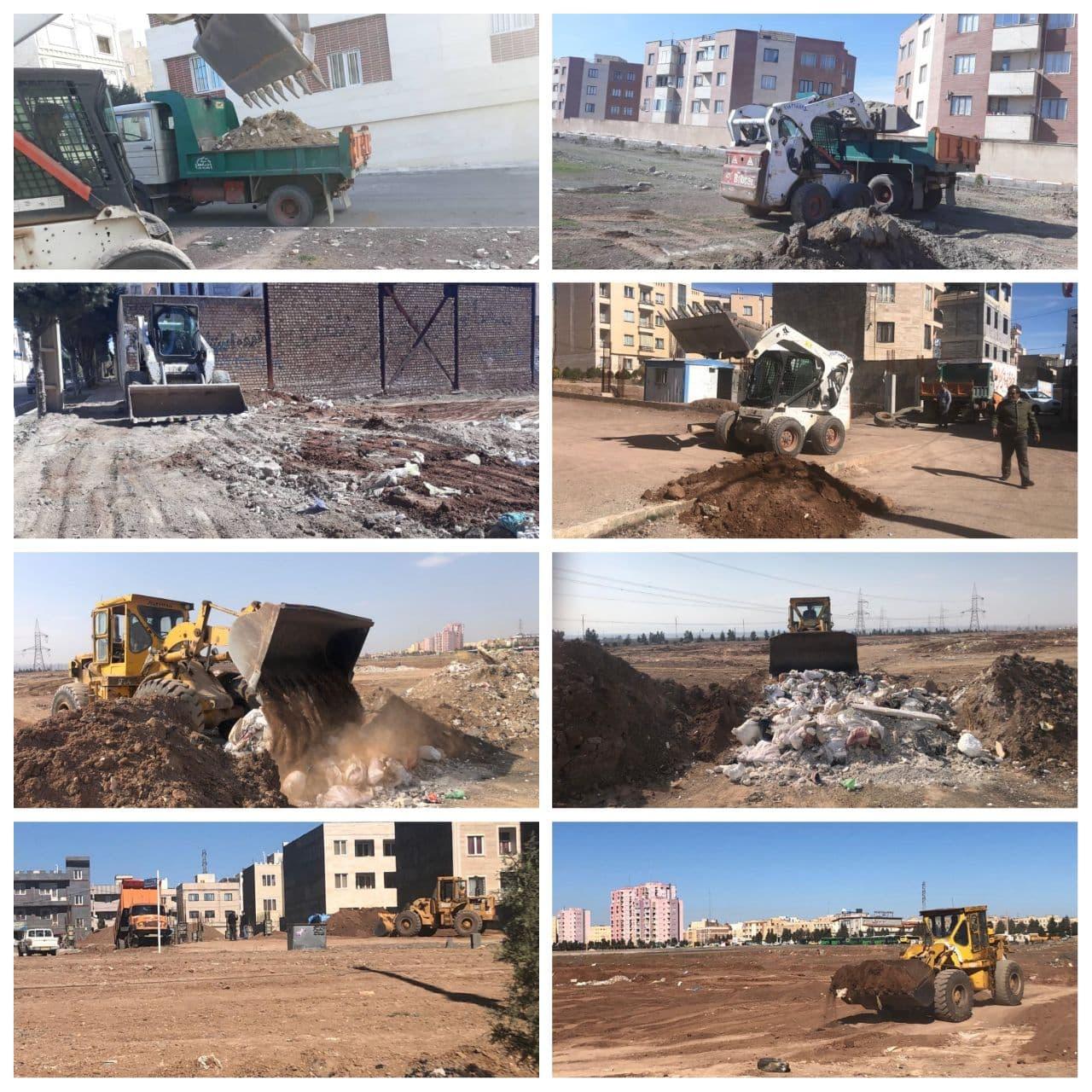 جمع آوری ۴۸۰ تن نخاله و ضایعات ساختمانی از سطح شهر پرند از ابتدای اسفند
