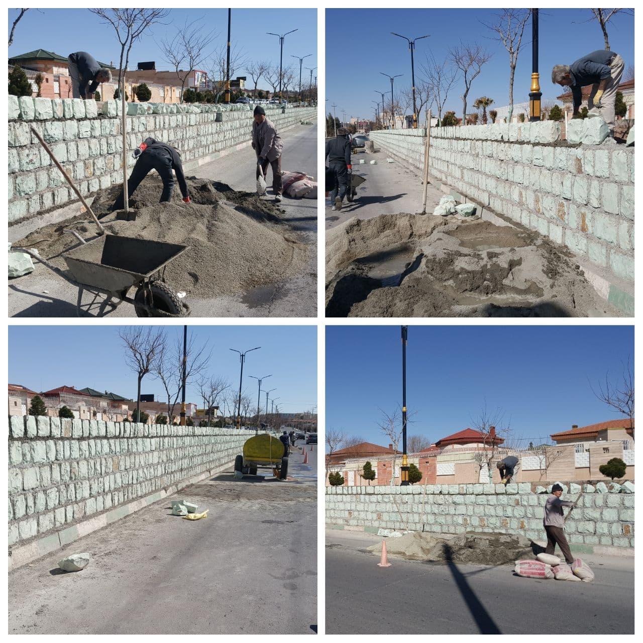 عملیات بهسازی بلوار انقلاب اسلامی پرند با سرعت ادامه دارد