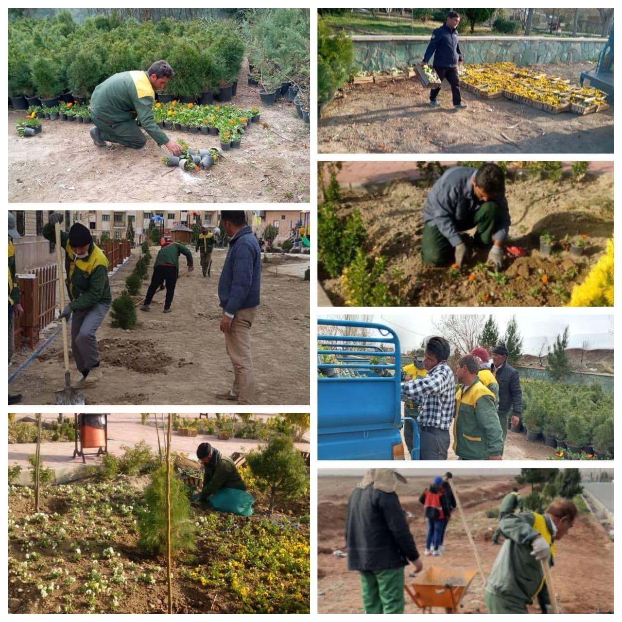 توسعه و بهبود فضای سبز شهر پرند در ایام نوروز ادامه دارد