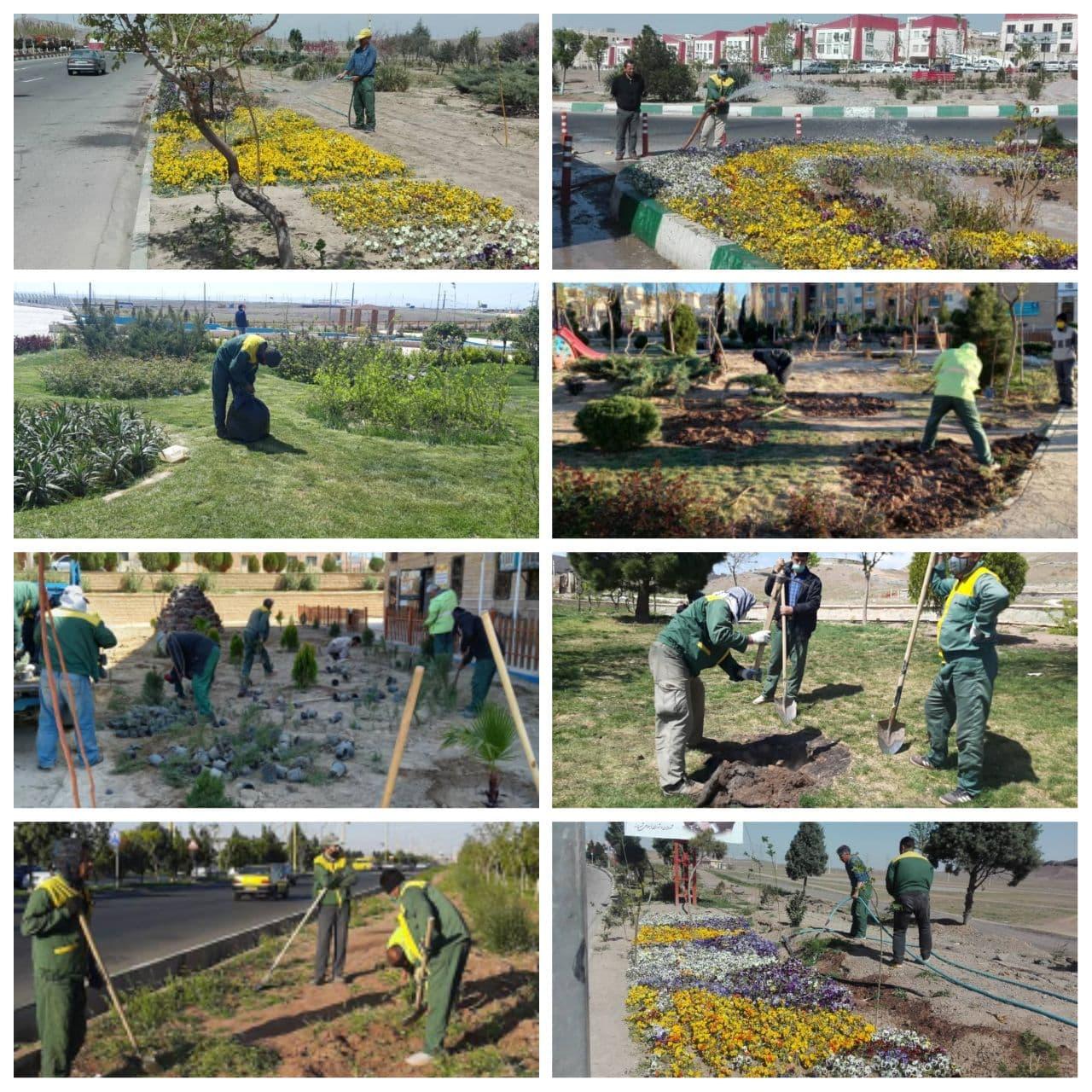 گام های سبز مدیریت شهری پرند برای زیبایی و آراستگی شهر